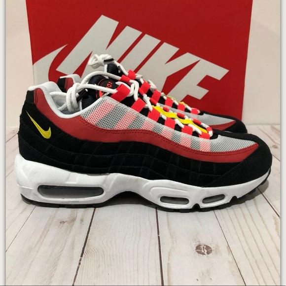 Variante Confundir jurado  Nike Shoes | Nike Air Max 95 Essential White Black Yellow Red | Poshmark